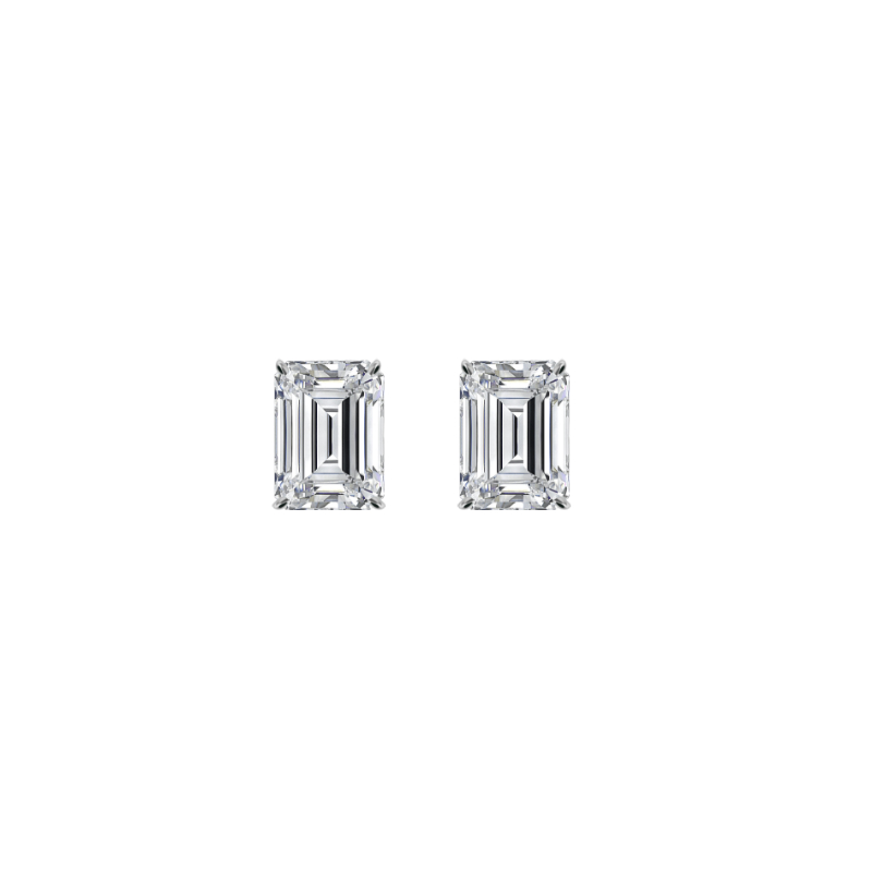1.50 ctw Emerald Diamond Stud Earrings