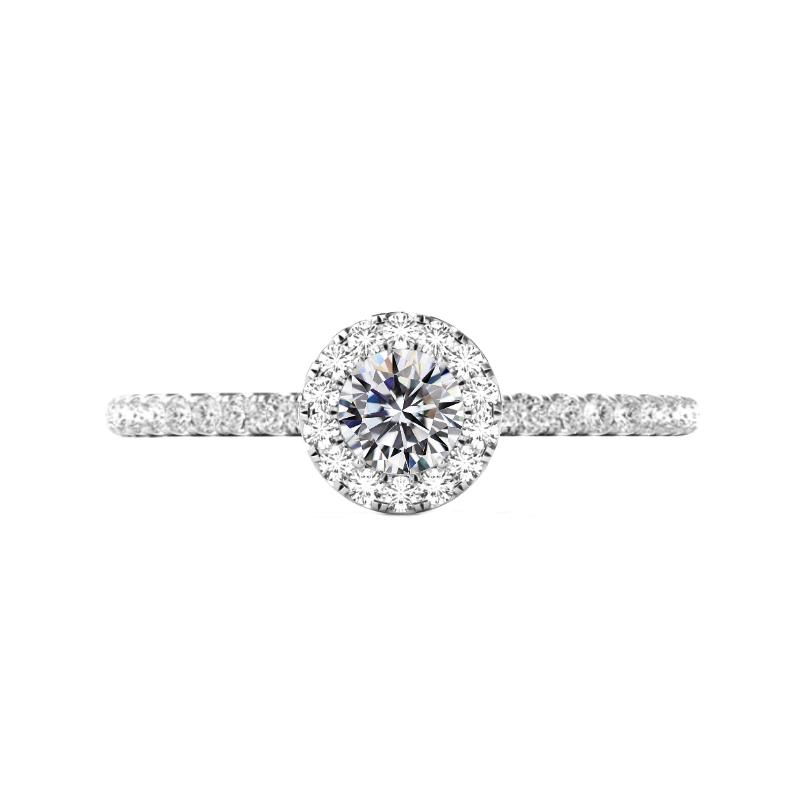 0.80 Carat Round Diamond & Halo Ring