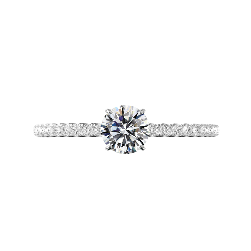 0.75 Carat Round Diamond Pave Ring
