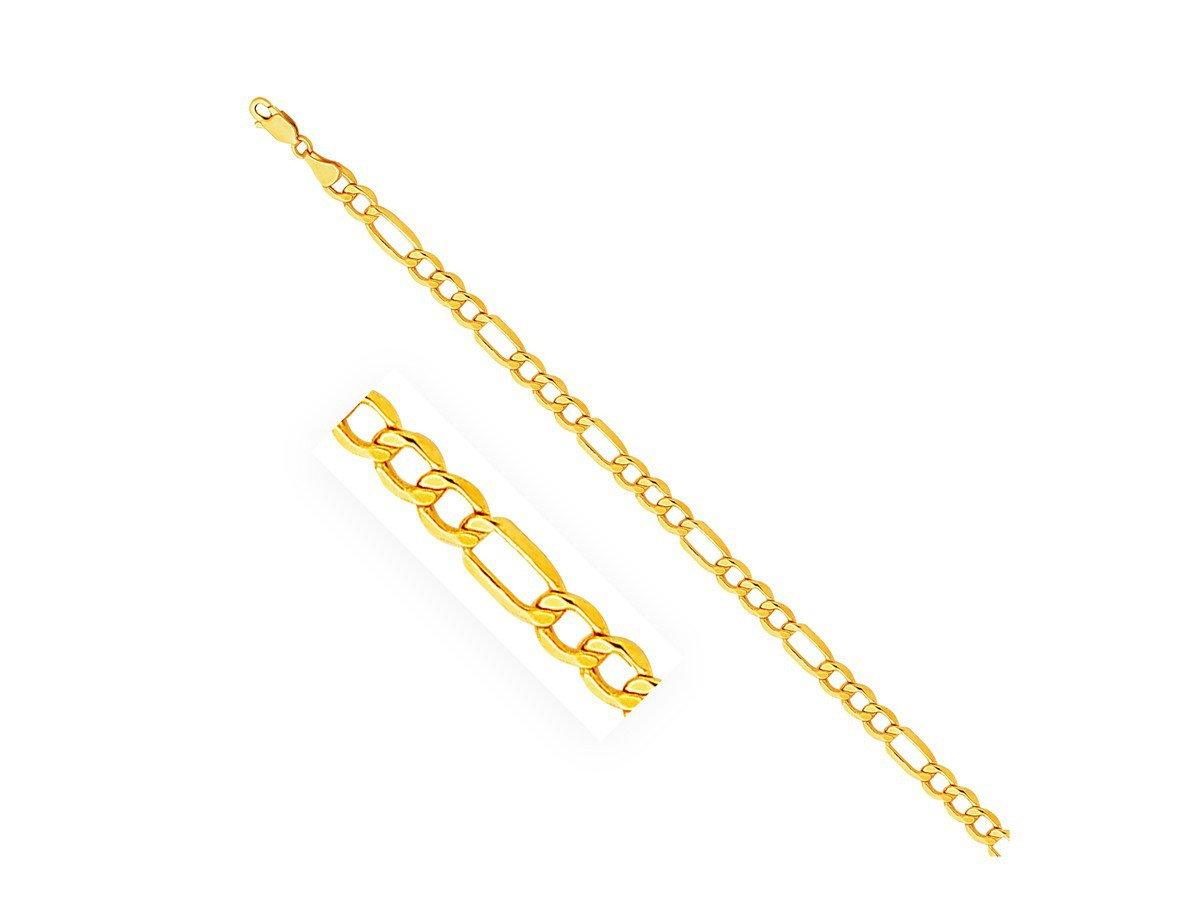 14k Yellow Gold Figaro Chain (5.5mm)