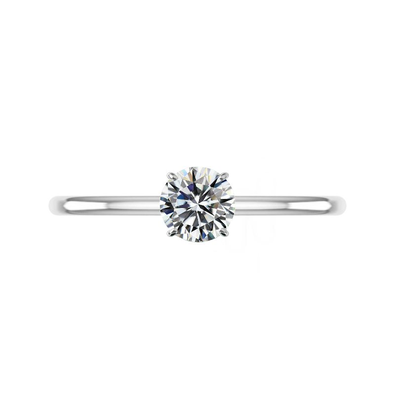 1 Carat Round Lab Grown Diamond Solitaire Ring