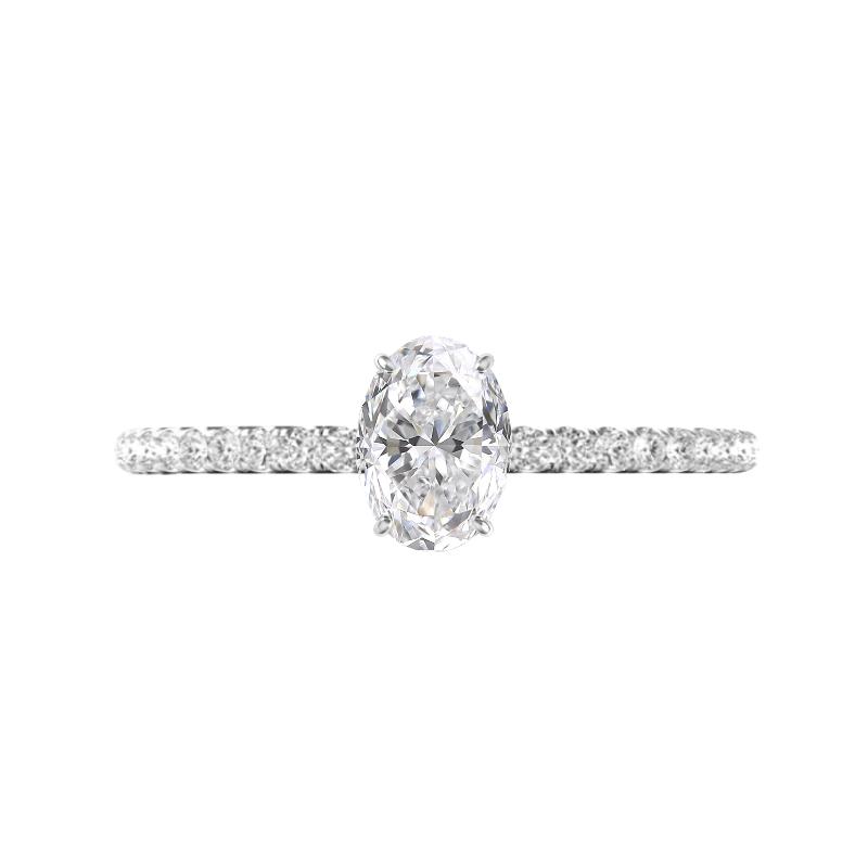 1.30 Carat Oval Diamond & Hidden Halo Engagement Ring