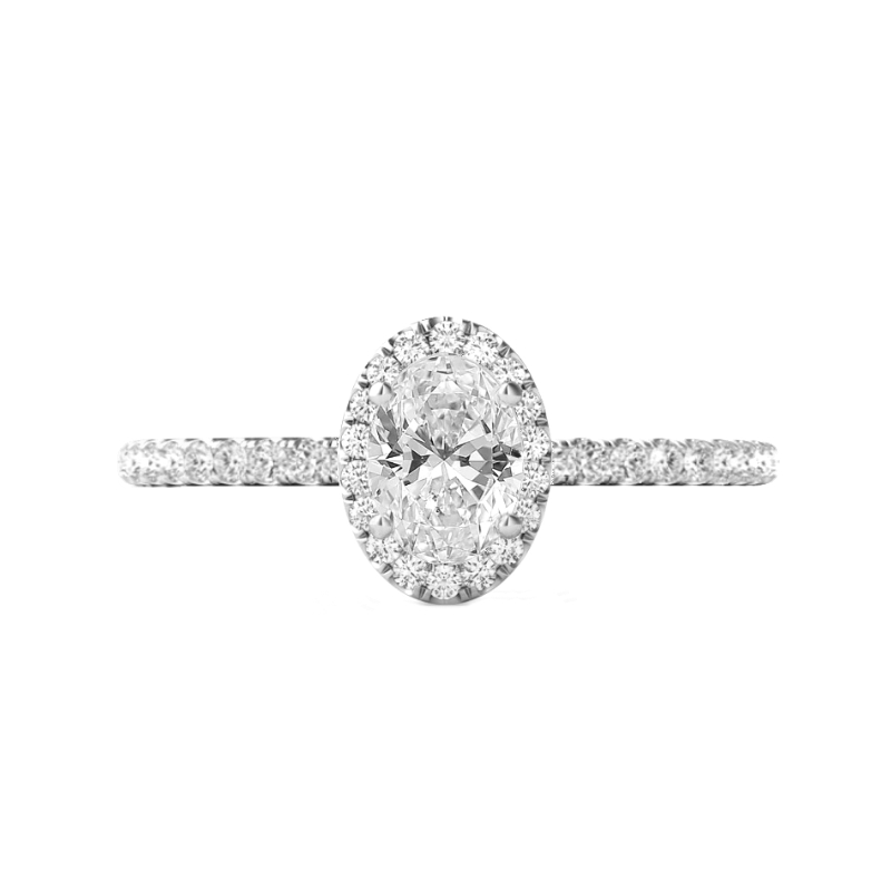 1.20 Carat Oval Diamond & Halo Ring