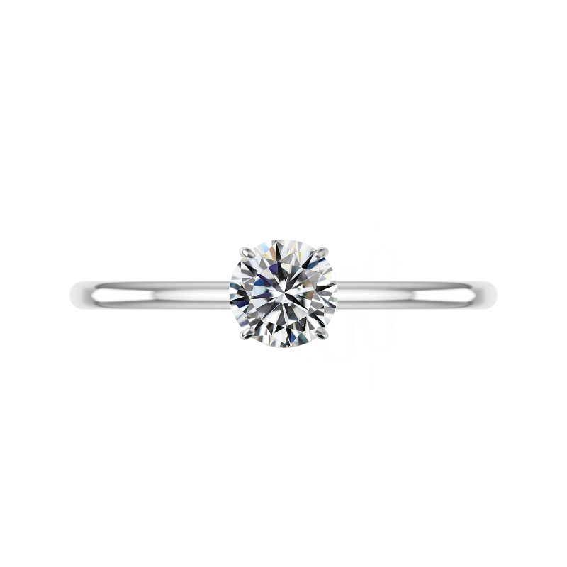 1.20 Carat Round Diamond & Hidden Halo Solitaire