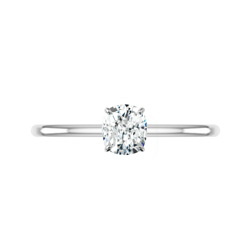 1.50 Carat Cushion Diamond & Hidden Halo Solitaire