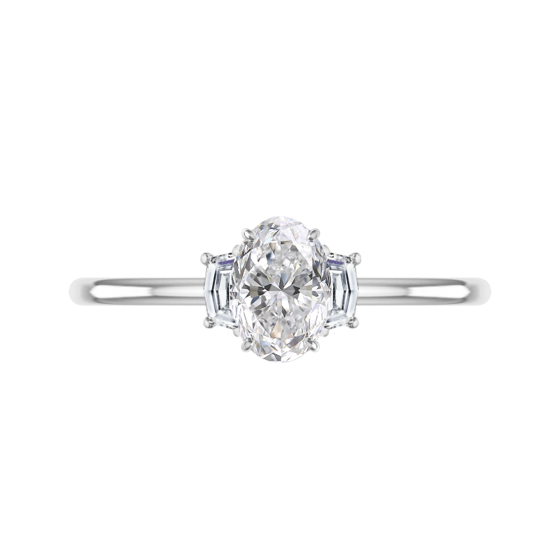 1.50 Carat Oval Diamond & Cadillac Three Stone Ring