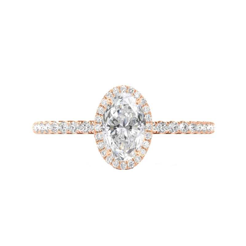 1.50 Carat Oval Diamond & Double Edge Halo Ring