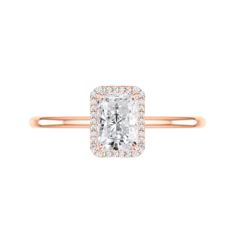 1.50 Carat Radiant Diamond & Halo Solitaire Ring