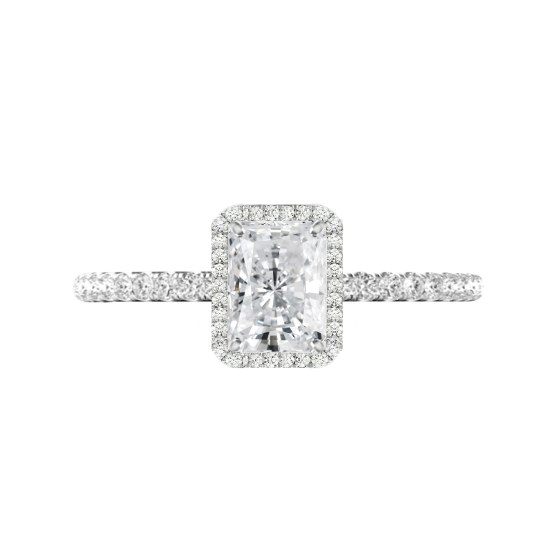 1.50 Carat Radiant Diamond & Halo Ring