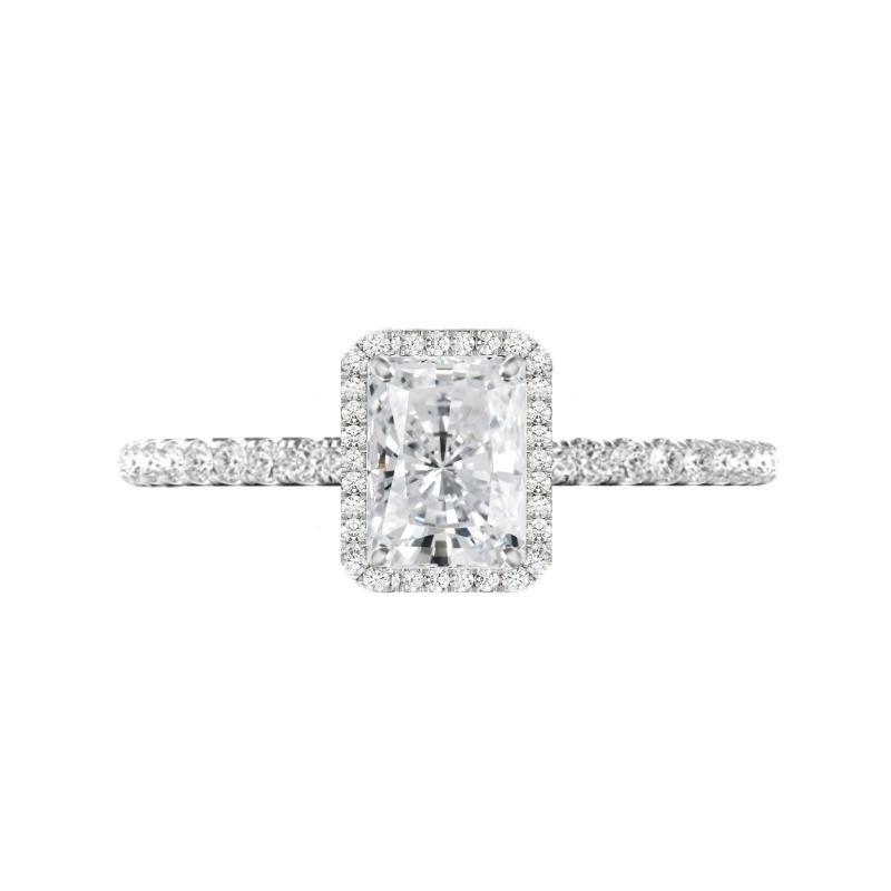 1.50 Carat Radiant Diamond & Halo Ring