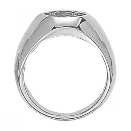 2.25 ct Oval Forever One Moissanite Solitaire Men's Ring