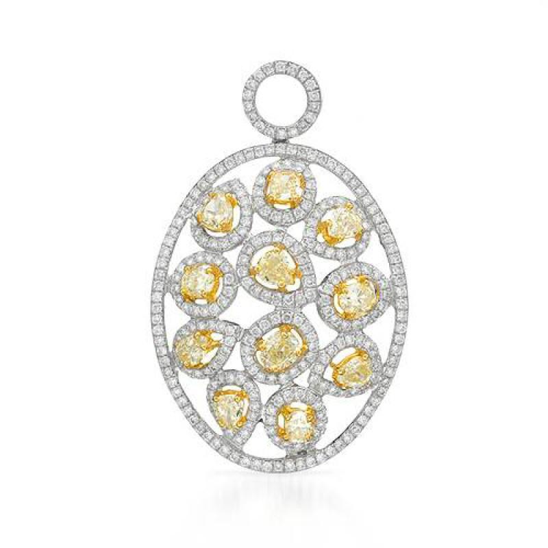 Yellow Diamond & White Diamond Pendant
