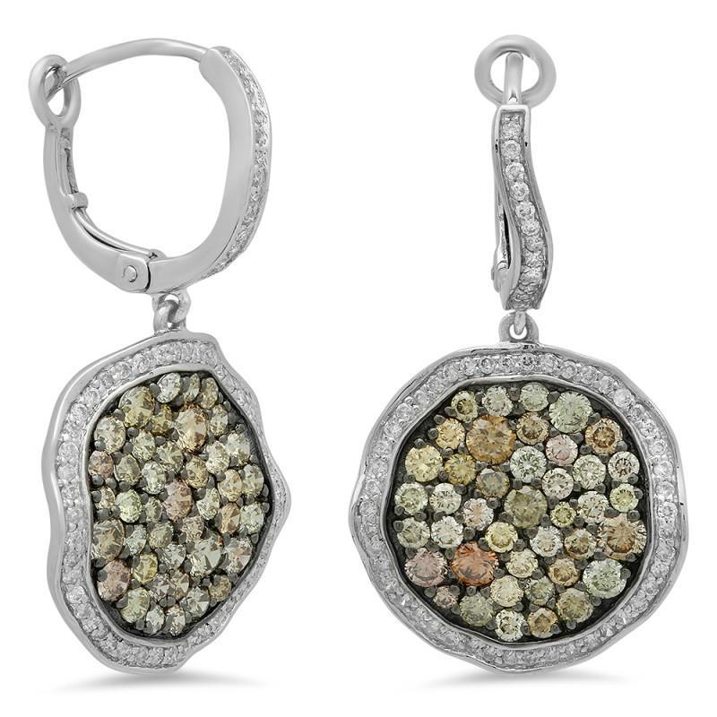 2.54 ctw Multi-Colored Diamond Earrings