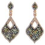 Multi-Colored Diamond & White Diamond Earrings