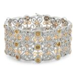 Fancy Yellow Diamond & White Diamond Bracelet (15.91 ctw)