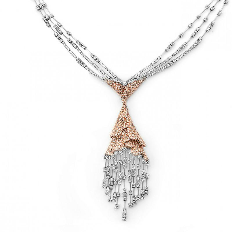 Diamond 18k Two Tone Necklace