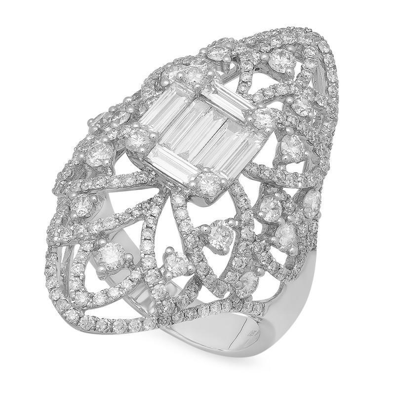 2.44 Carat Diamond Statement Ring
