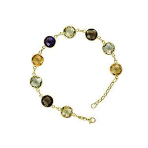 Multi Color Gemstone Bracelet 14k