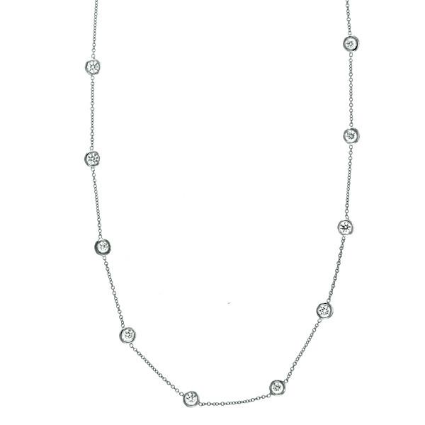 1.40 ct Diamond Station Necklace