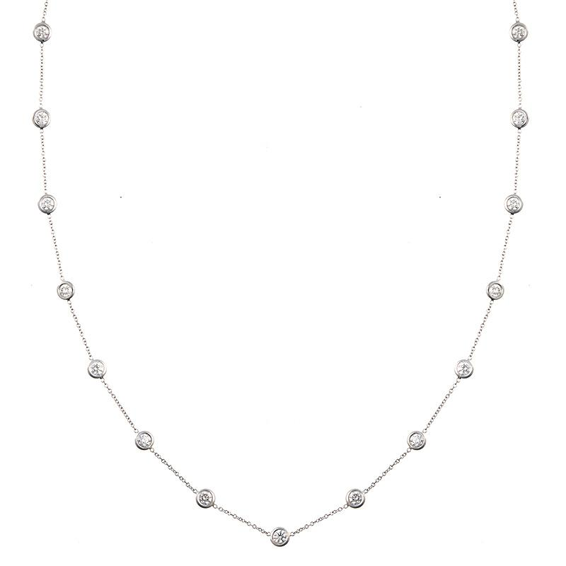3.00 ctw Diamond Bezel Station Necklace