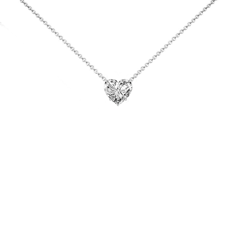 2 Carat Heart Diamond Solitaire Necklace