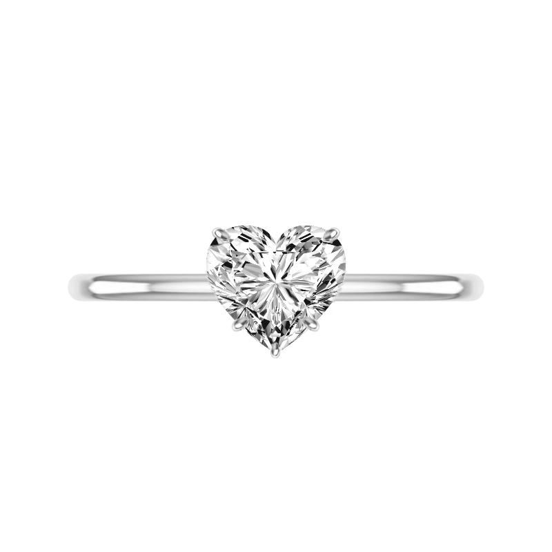 2 Carat Heart Cut Moissanite Solitaire Ring