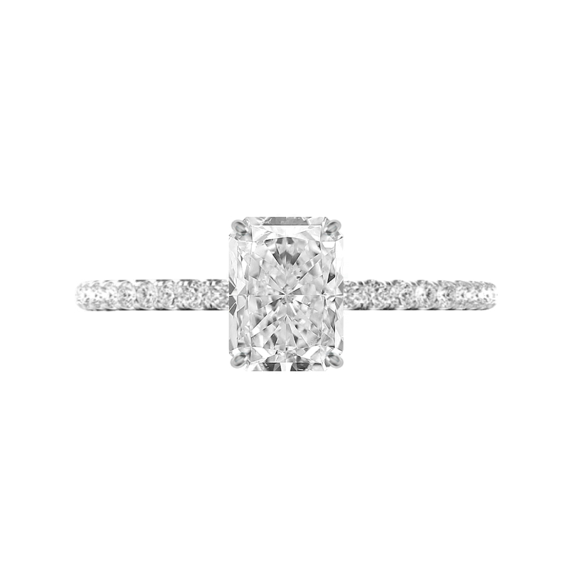 2.50 Carat Radiant Diamond & Hidden Halo Ring