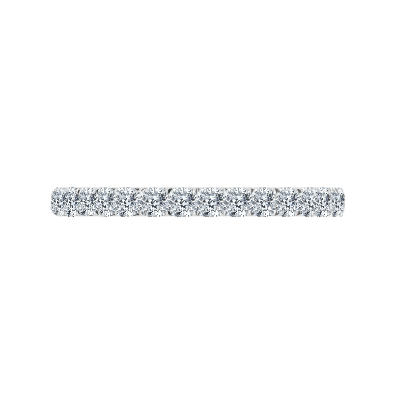 2.5mm Cushion Diamond Eternity Band