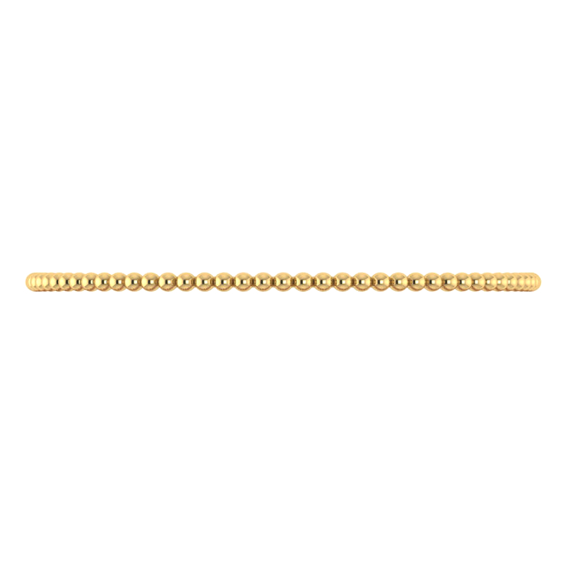 2.8mm Beaded Yellow Gold Bangle