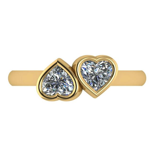 1ctw Double Heart Diamond Fashion Ring