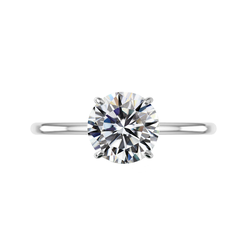 3 Carat Round Lab Grown Diamond Solitaire Ring