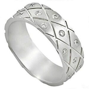 Men's Groove Diamond Band