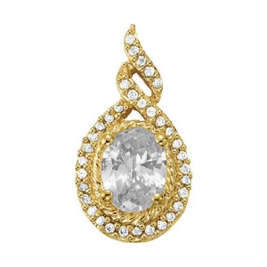 1.50 ct Oval Forever One Moissanite & Diamond Pendant