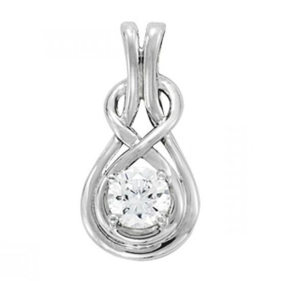 0.50 carat Forever One Moissanite Infinty Pendant