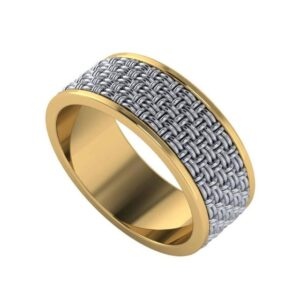 Men's Two Tone Woven Band
