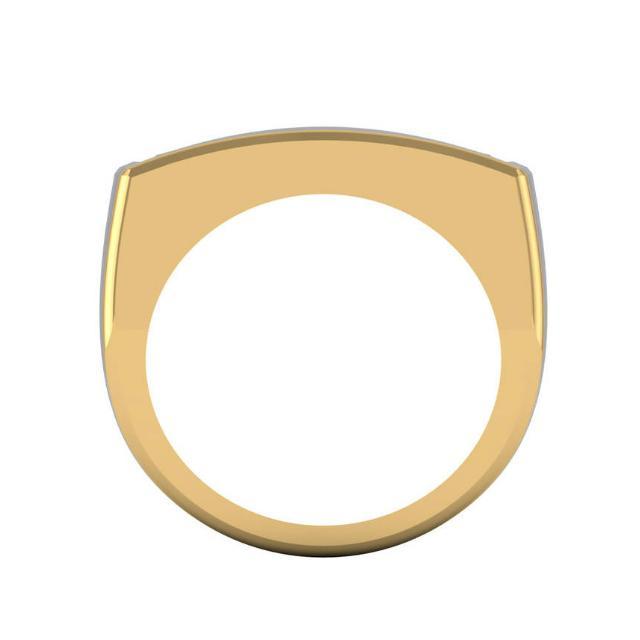 1.25 Carat Diamond Channel Set 14k Two Tone Bar Ring