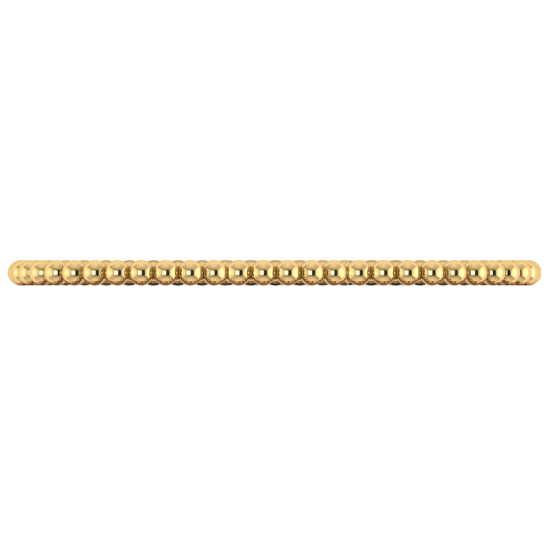 3mm Beaded Yellow Gold Bangle