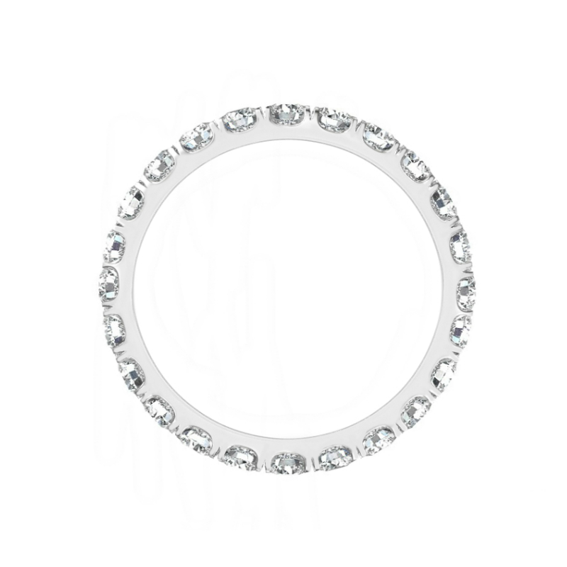 2 ct Radiant Moissanite Halo Ring & 3mm Diamond Eternity Band