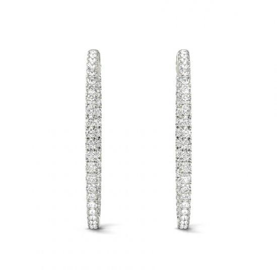 3.72 Carat Forever One Moissanite Hoop Earrings (36mm)