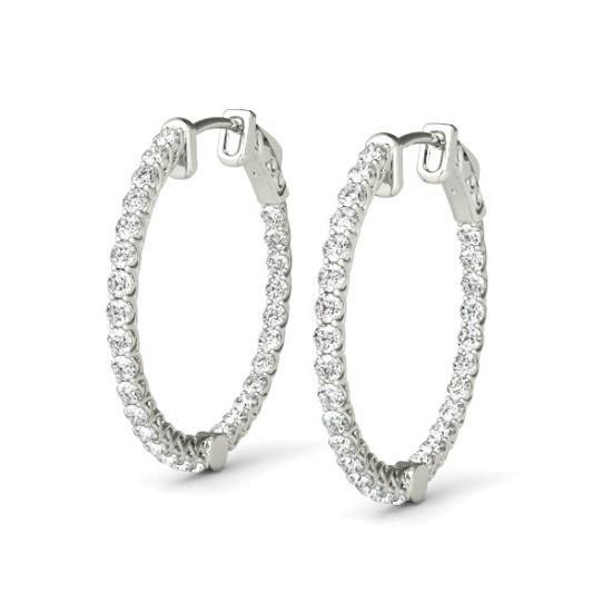 10 Carat Diamond Hoop Earrings (49mm)