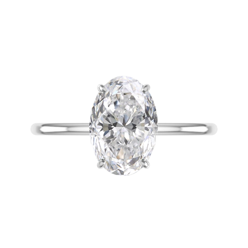 5 Carat Oval Cut Moissanite Solitaire Ring