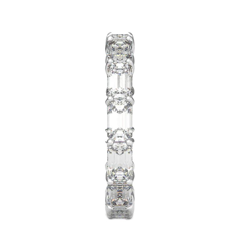 5x3mm Emerald Diamond Horizontal Eternity Band