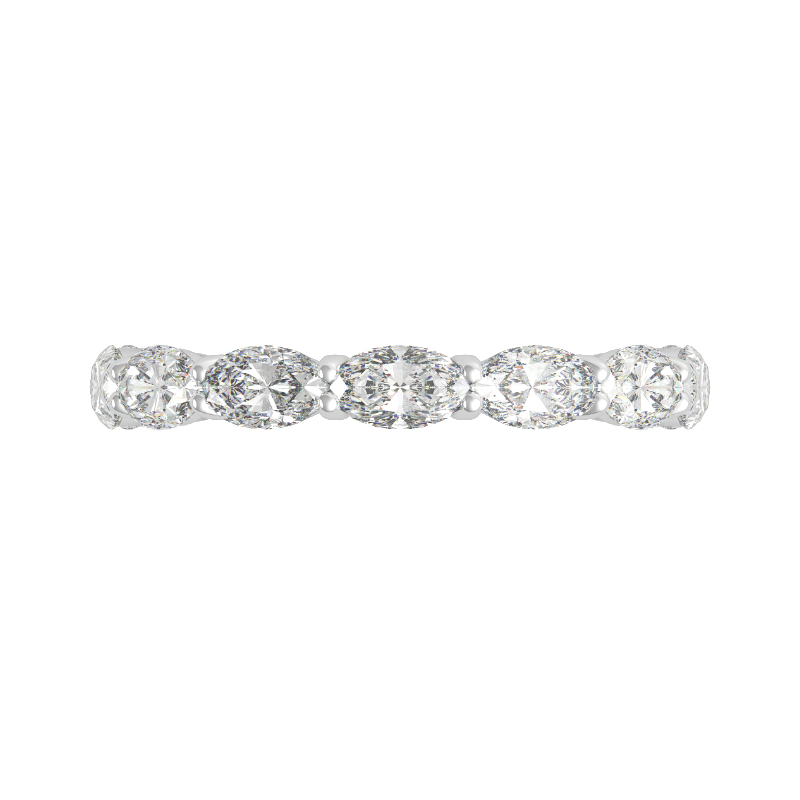 5x3mm Oval Diamond Horizontal Eternity Band