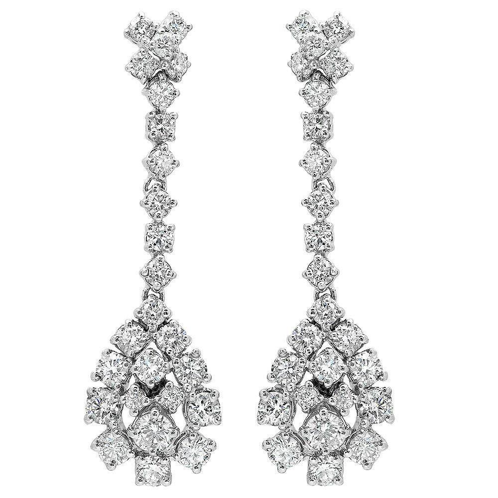 2.80 Carat Diamond Drop Earrings