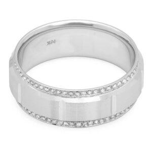 Men's Diamond Edge Wedding Band 8mm