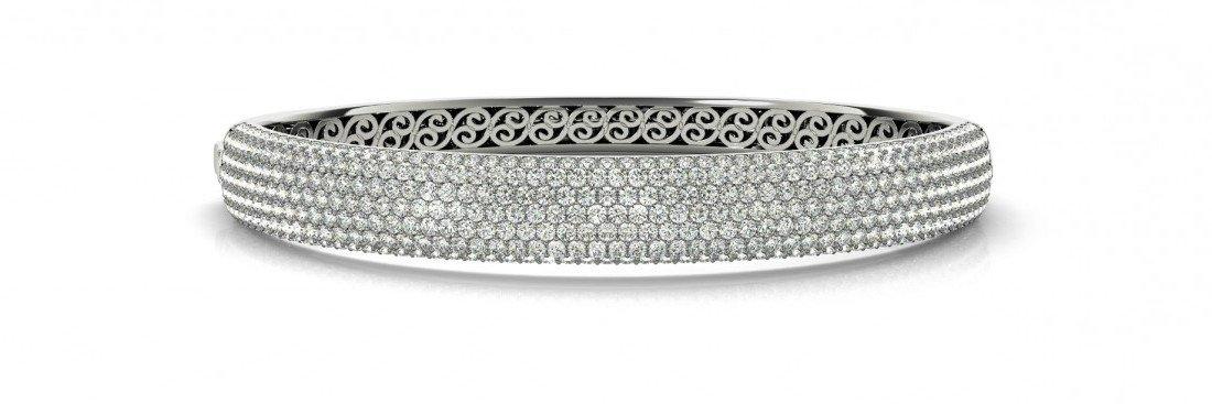 7 Carat Diamond Pave Bangle