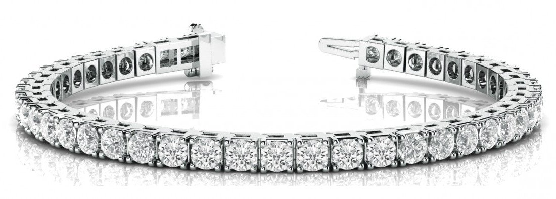 16.50 Carat Diamond Tennis Bracelet 18k White Gold