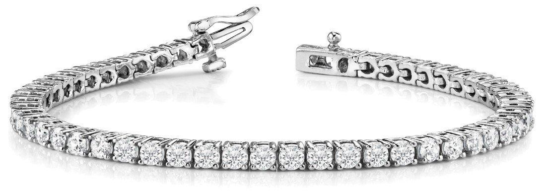 21 Carat Round Diamond Tennis Bracelet