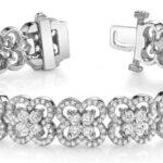 Diamond Clover Tennis Bracelet 14k