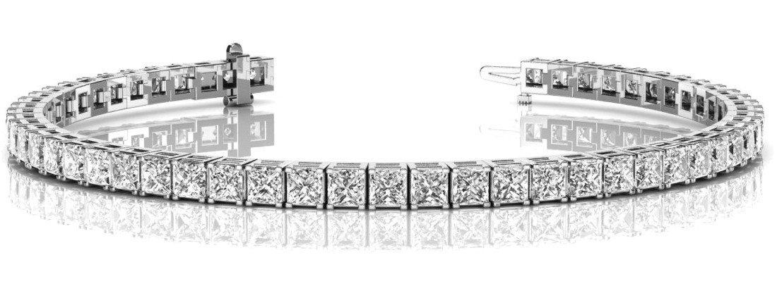 9 Carat Princess Diamond Tennis Bracelet
